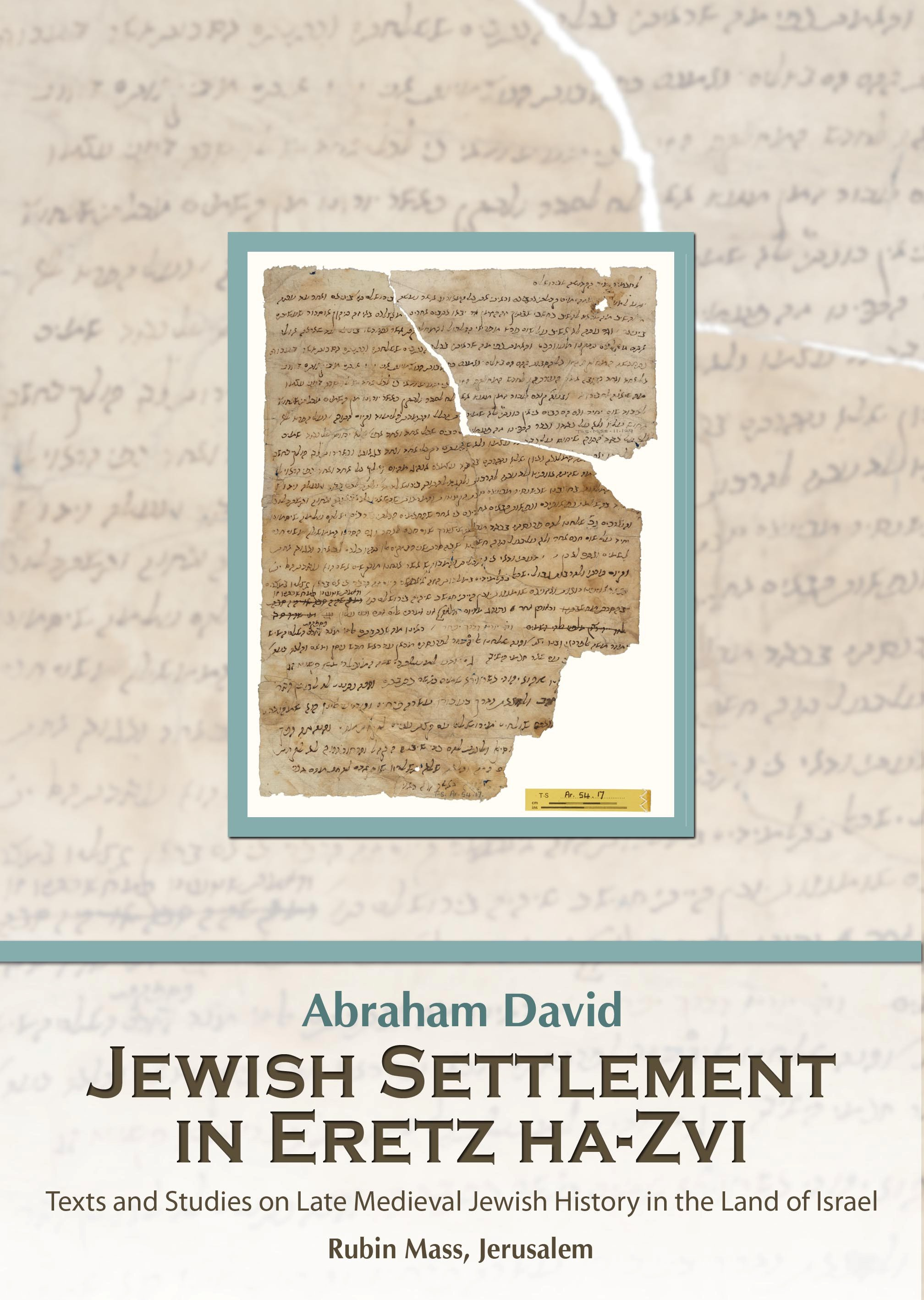 The frontcover of the book Jewish Settlement in Eretz ha-Zvi English and Hebrew by David Abraham